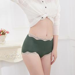 【高腰蕾丝内裤4条装】弹力伸展 舒适不勒 底裆抑jun 高腰版型 提臀包臀 蕾丝花边