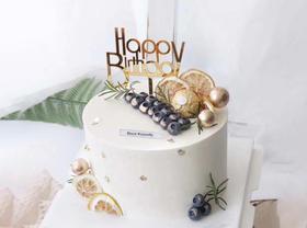 【有档次】麦哲伦蓝宝石金莎巧克力生日蛋糕