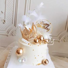 【女神】加冕女神金闪闪创意生日蛋糕