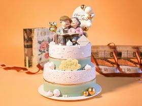 寿星公寿星婆B款祝寿蛋糕