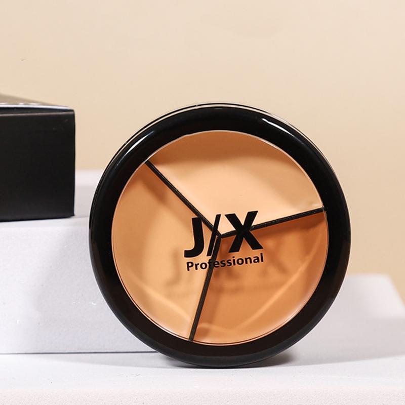 【全球名品 | 彩妆馆】jx三色遮瑕膏 强力巨遮暇盘JX遮盖斑点脸部痘印干皮黑眼圈j/x 15g