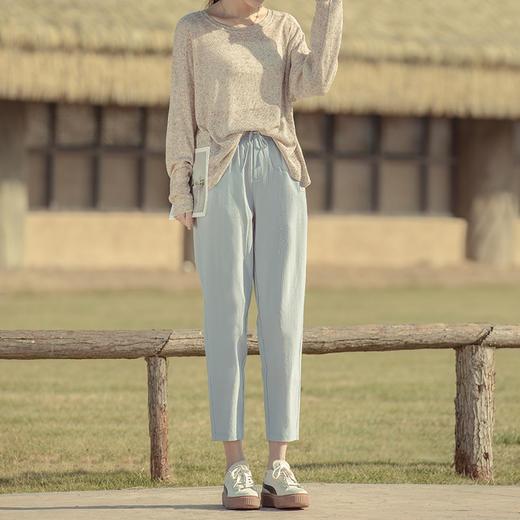 【显瘦神器!冰爽薄荷裤】自带薄荷香,上身自带凉感,舒适柔软,透气排湿,24h无感穿着,直筒版型显瘦显腿长,凉感垂顺清凉6色 商品图7